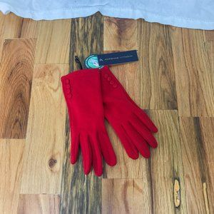 Adrienne Vittadini Red Touch Screen Tech Gloves